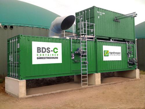 Gaerresttrockungsband, AgroEnergien, BDS - C Containter, Gärresttrocknung